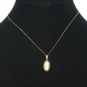 12 k gf Vintage cameo Necklace
